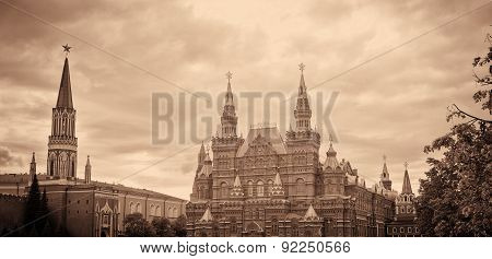 National Historic Museum at Red Square in Moscow