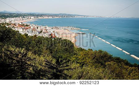 lanscape gabicce mare italy romagna beach