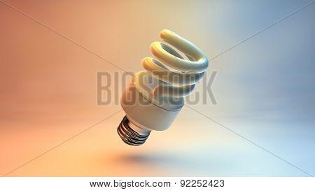 3d render illustration energy saving bulb colorfull background