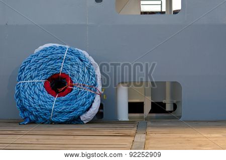 Rope on deck ship