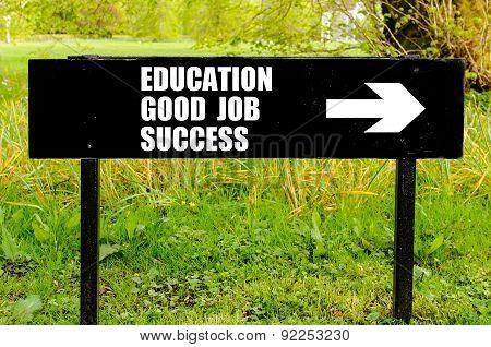 Education, Good Job, Success