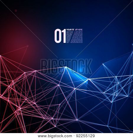 Abstract Red Blue Laser Light | EPS10 Design