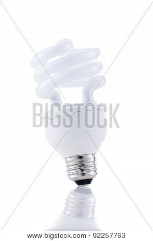 Energy Saving Lightbulb Isolated On White Background