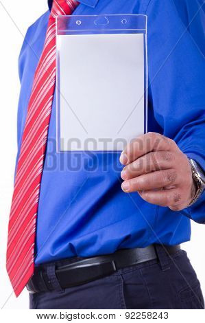 Businessman Showing His Identification Card
