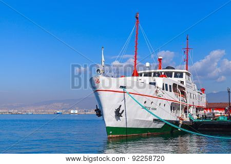 Museum Ship Moored In Izmir City, Turkey