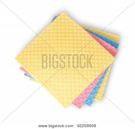Multicolored Sponges For Dishwashing