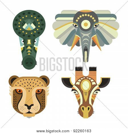 Four Animal Heads
