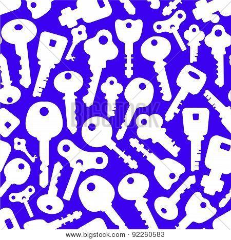 Vector Illustration Of Retro Keys.