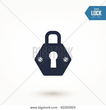 Vector Illustration Of Locks. Black And White Key Icon.