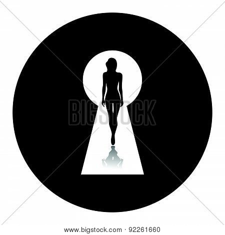 Vector Illustration Of Beautiful Female Figure.