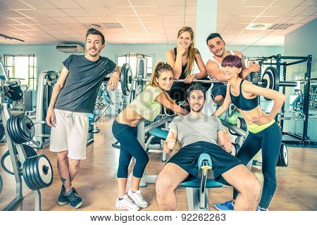 Friends In A Gym