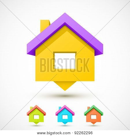 Colorful house pointer