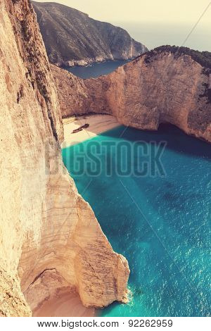 Beautiful Navagio Beach on Zakynthos Island in Greece