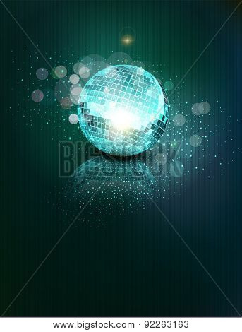 background with a mirror ball and reflection