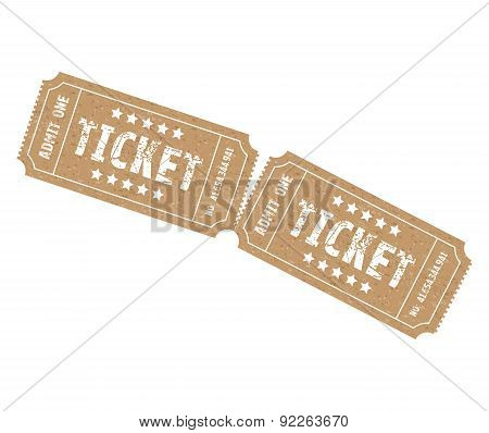 Set Of Two Tickets