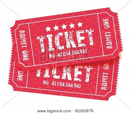 Red Set Of Tickets