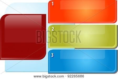 blank business strategy concept infographic diagram illustration of three bullet point topic