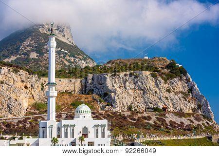 Gibraltor and Mosque.
