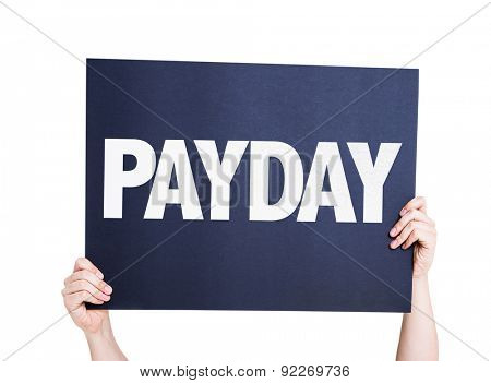 Payday card isolated on white