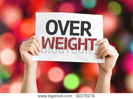 Overweight card with bokeh background