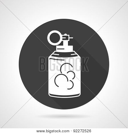 Grenade black round vector icon