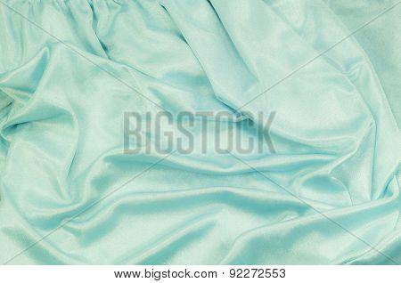 Cyan Fabric Background
