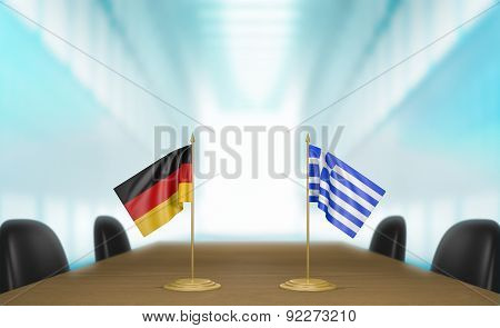 Germany and Greece relations and trade deal talks