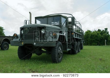 Vintage Army Troop Carrier On Display
