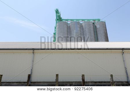 industrial building and silo