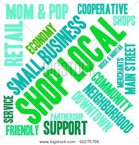 Shop Local Word Cloud