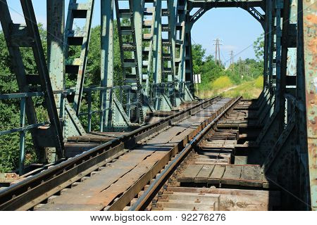 Old train bridge near Zrenjanin - Serbia