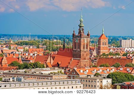 Top View On Gdansk, Old Town