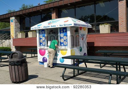 A Dippin' Dots Ice Cream Stand