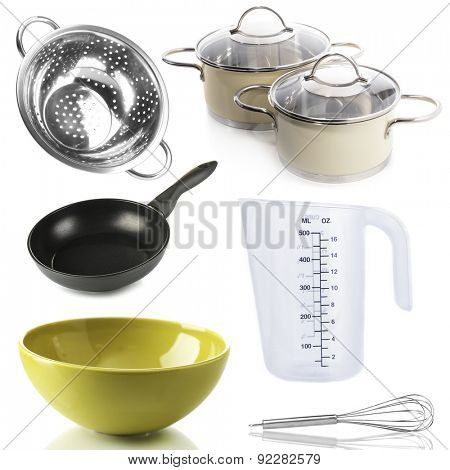 Kitchen utensils isolated on white