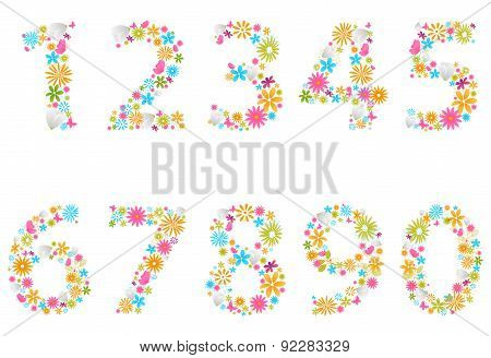 Beautiful flower numbers