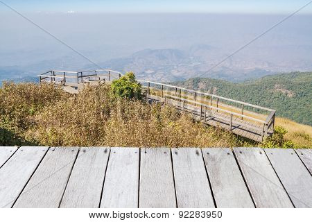 Viewpoint On Mountains