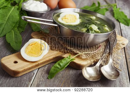 Sorrel Soup With Egg