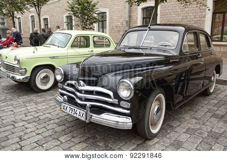 Exhibition Of Vintage Cars On The Freedom Square In Kharkiv, May 31, 2015
