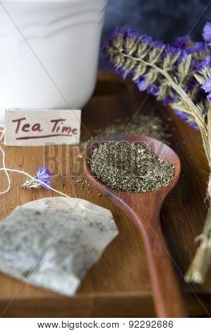 Close Up Peppermint Tea