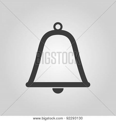 The Bell Icon. Alert Symbol. Flat