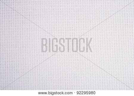 White Cotton Canvas For Needlework As Background