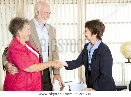 Seniors Meeting Financial Advisor