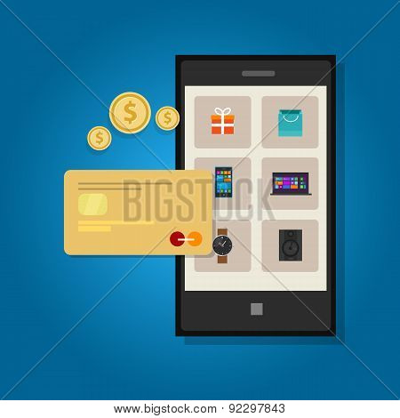 mobile commerce online credit card phone