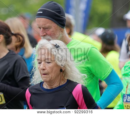 Old Woman And Old Man Running