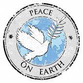 image of peace  - Bird dove as peace symbol stamp - JPG