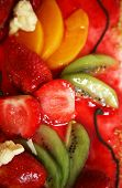 foto of fruit platter  - Piece of a pie with fruit close up - JPG