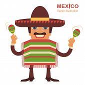 stock photo of maracas  - Mexican man playing maracas - JPG