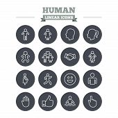 stock photo of male face  - Human linear icons set - JPG