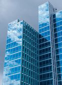 pic of high-rise  - Glass high rise building in European city - JPG