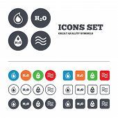 image of drop oil  - H2O Water drop icons - JPG